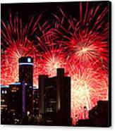 The 54th Annual Target Fireworks In Detroit Michigan - Version 2 Canvas Print by Gordon Dean II