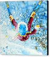 The Aerial Skier - 14 Canvas Print by Hanne Lore Koehler
