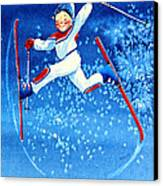 The Aerial Skier 16 Canvas Print