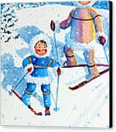 The Aerial Skier - 6 Canvas Print by Hanne Lore Koehler
