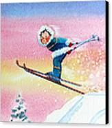 The Aerial Skier - 7 Canvas Print
