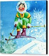 The Aerial Skier - 9 Canvas Print by Hanne Lore Koehler