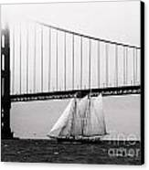 The America And The Golden Gate Canvas Print by Patty Descalzi