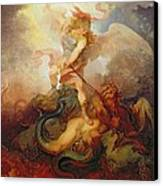 The Angel Binding Satan Canvas Print by Philip James de Loutherbourg