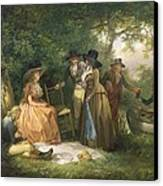 The Angler's Repast  Canvas Print by George Morland