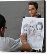 The Artist At Bethesda Fountain Canvas Print