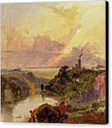 The Avon Gorge At Sunset  Canvas Print by Francis Danby