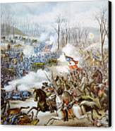 The Battle Of Pea Ridge, Arkansas Canvas Print by Everett