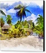 The Beach 01 Canvas Print