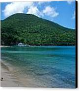 The Beach At Caneel Bay Canvas Print by Kathy Yates