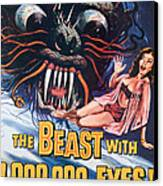 The Beast With A Million Eyes, 1955 Canvas Print by Everett