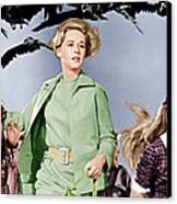 The Birds, Tippi Hedren Center, 1963 Canvas Print by Everett