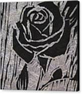 The Black Rose Canvas Print