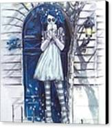 The Blue Door Canvas Print by Lori Keilwitz