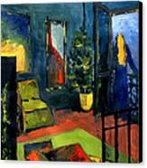 The Blue Room Canvas Print by Mona Edulesco
