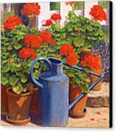 The Blue Watering Can Canvas Print by Anthony Rule