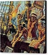 The Boston Tea Party Canvas Print by Luis Arcas Brauner