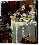 The Breakfast Canvas Print by Claude Monet
