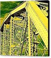 The Bridge To The Skies Canvas Print by Susanne Van Hulst