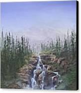 The Canoeist Concern Canvas Print by Kent Nicklin