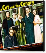 The Cat And The Canary, Front To Back Canvas Print by Everett
