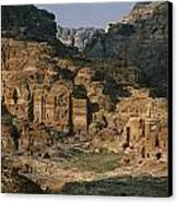The Caves And Tombs Of Petra, Shown Canvas Print