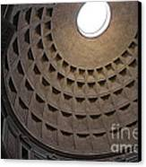 The Ceiling Of The Pantheon Canvas Print by Chris Hill