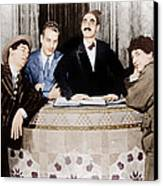 The Cocoanuts, From Left Chico Marx Canvas Print by Everett