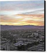 The Colors Of The Sky Over San Jose At Sunset Canvas Print by Ashish Agarwal