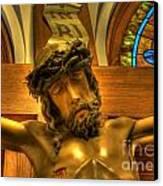The Crucifiction Of Jesus Of Nazareth Canvas Print by Lee Dos Santos