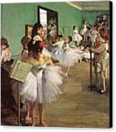 The Dance Class Canvas Print by Edgar Degas