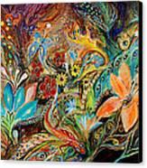 The Dance Of Lizards Canvas Print by Elena Kotliarker
