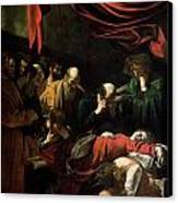 The Death Of The Virgin Canvas Print by Caravaggio