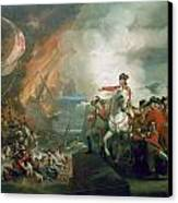The Defeat Of The Floating Batteries At Gibraltar Canvas Print by John Singleton Copley