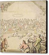 The Dog Fight Canvas Print by Thomas Rowlandson