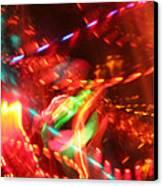 The Electric Cosmos      Nebula Traffic Jam Canvas Print by Artist Orange