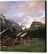 The Elizabeth Parker Hut, A Log Cabin Canvas Print by Michael Melford