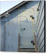 The Entry To A Metal Shed On A Sawmill Canvas Print