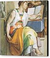 The Erythraean Sibyl Canvas Print by Michelangelo Buonarroti