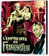 The Evil Of Frankenstein Aka Lempreinte Canvas Print
