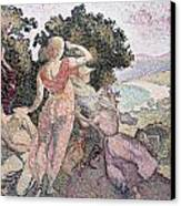 The Excursionists Canvas Print by Henri-Edmond Cross