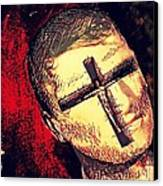 The Face Is Sowing Fertile Shadow Of The Cross Canvas Print by Paulo Zerbato