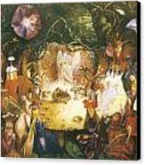 The Fairies Banquet Canvas Print by John Anster Fitzgerald