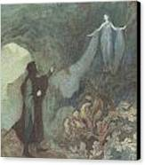 The Fairy Appearing To The Prince Canvas Print by Warwick Goble