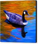 The Fall Goose Canvas Print by Suni Roveto