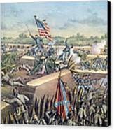 The Fall Of Petersburg To The Union Army 2nd April 1965 Canvas Print