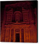 The Famous Treasury Lit Up At Night Canvas Print