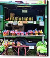 The Farmers Market Canvas Print