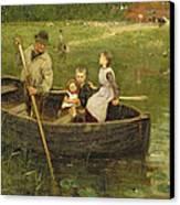 The Ferry Canvas Print by Edward Stott