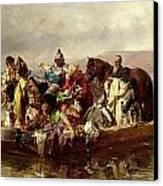 The Ferry  Canvas Print by Johann Till
